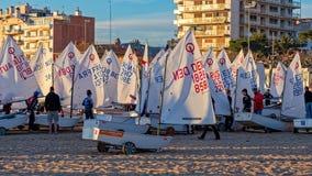ventinovesimo TROFEO INTERNAZIONALE 2018, tredicesima TAZZA dell'OTTIMISTA di PALAMOS di NAZIONI, il 15 febbraio 2018, città Pala Fotografia Stock Libera da Diritti