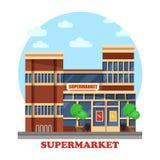 Ventiquattr'ore su ventiquattro esterno all'aperto del supermercato royalty illustrazione gratis