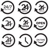 Ventiquattr'ore su ventiquattro servizio - illustrazione illustrazione vettoriale