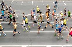 ventiquattresima maratona di Nordea Riga Fotografia Stock