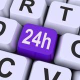 Ventiquattro ore di chiave di sito Web di manifestazioni aperto tutto il giorno Immagine Stock Libera da Diritti