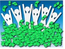 Ventis d'argent d'argent liquide Images stock