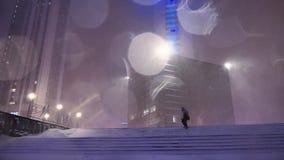 Ventisca en Moscú almacen de metraje de vídeo