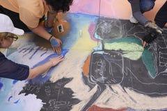 ventiseiesimo festival annuale del gesso di Pasadena Fotografia Stock Libera da Diritti