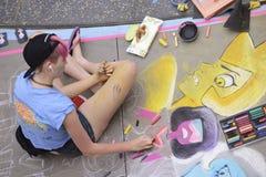 ventiseiesimo festival annuale del gesso di Pasadena Fotografie Stock Libere da Diritti