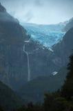 Ventisquero glaciär, nationalpark av Queulat, Carretera Austr arkivbild