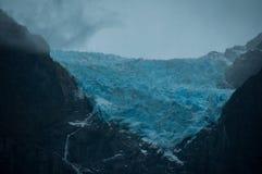 Ventisquero glaciär, Parque Nacional av Queulat, Carretera Austr Arkivfoton