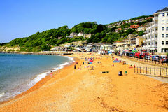 Ventnor beach, Isle of Wight. The seafront and beach of the seaside town of Ventnor, Isle of Wight, England, UK Stock Image