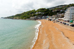 Ventnor beach Isle of Wight south coast of the island tourist town Royalty Free Stock Photo