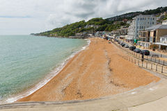 Ventnor beach and seafont Isle of Wight south coast of the island tourist town Royalty Free Stock Photo