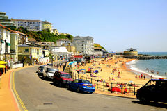 Ventnor seafront, Isle of Wight. The beach and seafront at Ventnor, Isle of Wight, England, UK Royalty Free Stock Images