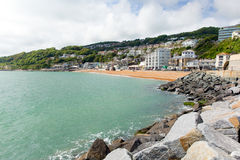 Ventnor seafront Isle of Wight south coast of the island tourist town Royalty Free Stock Photo