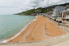 Ventnorstrand en seafont het zuidenkust van het Eiland Wight van de stad van de eilandtoerist Royalty-vrije Stock Foto