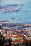 vento Bora da Vendaval-força, Trieste, Itália Parte-vista fotografia de stock