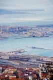 vento Bora da Vendaval-força, Trieste, Itália Parte-vista fotos de stock