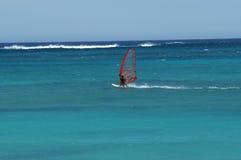 Vento che pratica il surfing sull'Australia occidentale di Exmouth della scogliera di Ningaloo Immagini Stock Libere da Diritti