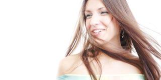 Vento che salta tramite i suoi capelli #2 Immagine Stock