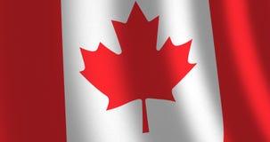 Vento commovente del Canada della bandiera illustrazione vettoriale