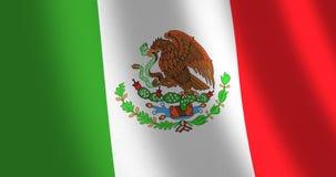 Vento commovente del Messico della bandiera royalty illustrazione gratis