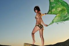 vento della ragazza Fotografia Stock Libera da Diritti
