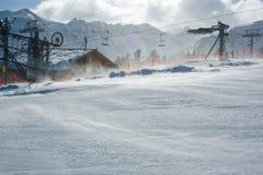 Vento do inverno Fotografia de Stock