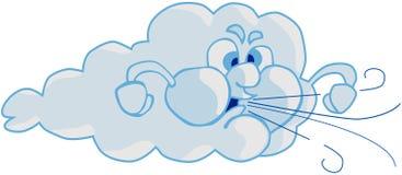 Vento e nuvem Fotografia de Stock