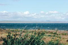 Vento e tempestade no mar Foto de Stock Royalty Free