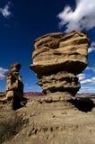 Vento estranho formações de rocha dadas forma Imagem de Stock