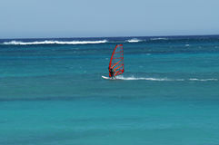 Vento que surfa na Austrália Ocidental de Exmouth do recife de Ningaloo Imagens de Stock Royalty Free