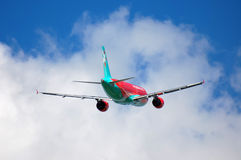 Vento Rose Aviation Airbus A320 Imagem de Stock
