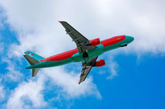 Vento Rose Aviation Airbus A320 Fotografia de Stock Royalty Free