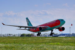Vento Rose Aviation Airbus A330 Imagem de Stock