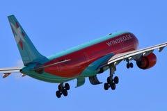 Vento Rose Aviation Airbus A330 Imagens de Stock