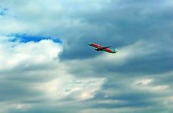 Vento Rose Aviation Airbus A320-212 do avião UR-WRK Fotografia de Stock Royalty Free