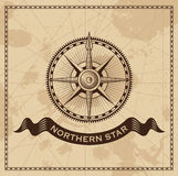 Vento Rose Nautical Compass do vintage Fotografia de Stock Royalty Free
