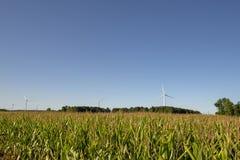 Vento-turbins, terra fotografia de stock royalty free