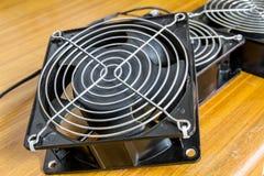 Ventole di raffreddamento della cassa del computer Fotografia Stock