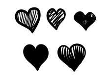 Ventor da garatuja do ícone do amor com preto da cor Imagens de Stock Royalty Free