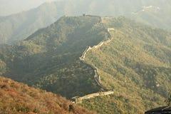 Ventos da parede sobre a montanha Foto de Stock