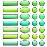 Ventotto bottoni di colore Immagine Stock