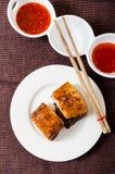 Ventre cuit et rôti à la vapeur de porc Photographie stock