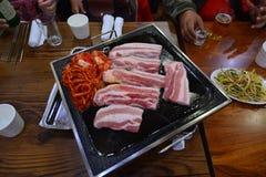 Ventre de porc coréen de BBQ image libre de droits