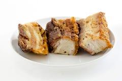 Ventre de porc croustillant fraîchement cuit au four Image libre de droits