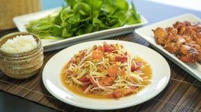 Ventre thaïlandais de som de salade de papaye Photo stock