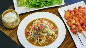 Ventre thaïlandais de som de salade de papaye Photos stock