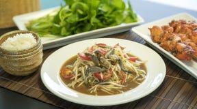 Ventre thaïlandais de som de salade de papaye Image libre de droits