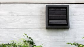 Free Vents At The White Wooden Building. Royalty Free Stock Photo - 170896295
