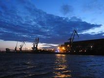 Ventspils-Hafen, Lettland lizenzfreie stockfotografie