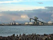Ventspils harbour, Latvia Stock Images