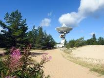 The Ventspils International Radio Astronomy Centre. Located near Baltic sea ,Latvia Stock Photo